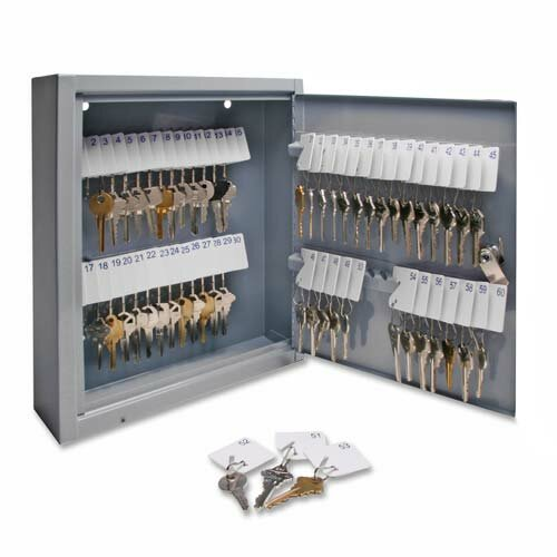 Secure Key Cabinet, Gray, Various Sizes by Sparco Products