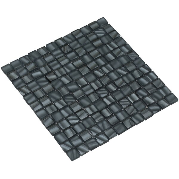 Bella 12 x 12 Glass Mosaic Tile in Slate Gray by Mirrella