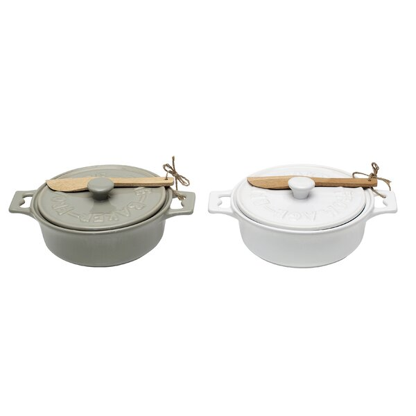 Ritter Stoneware Brie Baker (Set of 2) by Mint Pantry