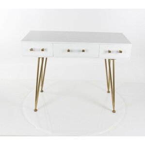 Merritt Wood Metal Console Table by Everly Q..
