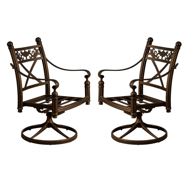 Baldwin Swivel Patio Dining Chair (Set of 2) by California Outdoor Designs