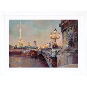 'Parisian Evening' Framed Print by Darby Home Co