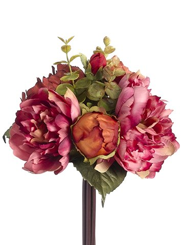 Bouquet Dahlia and Rose Floral Arrangement by Charlton Home