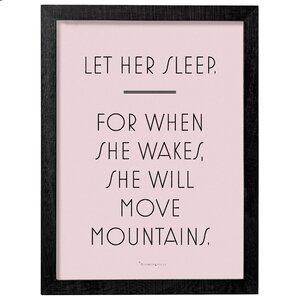 Let Her Sleep Framed Textual Art by Bloomingville