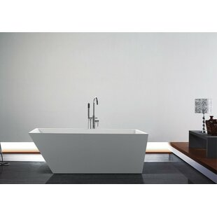 Compare & Buy Obliquo 59 x 31 Freestanding Soaking Bathtub ByKube Bath