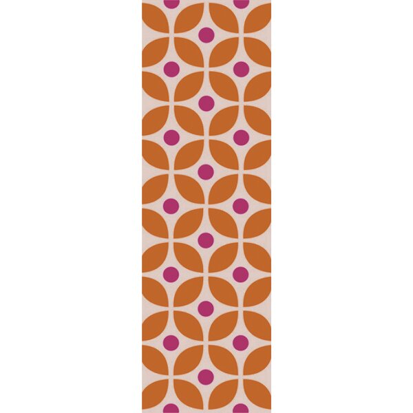Miranda Burnt Orange/Magenta Indoor/Outdoor Area Rug by clairebella