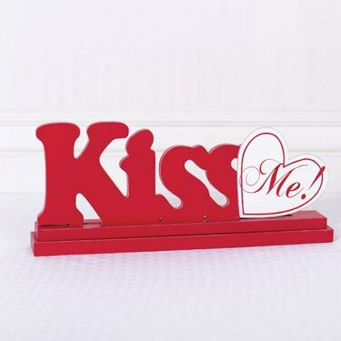 Kiss Cutout Letter Block by Adams & Co