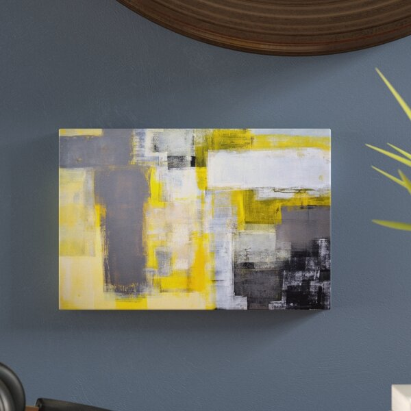 Blur Abstract Painting Print on Wrapped Canvas by Langley Street