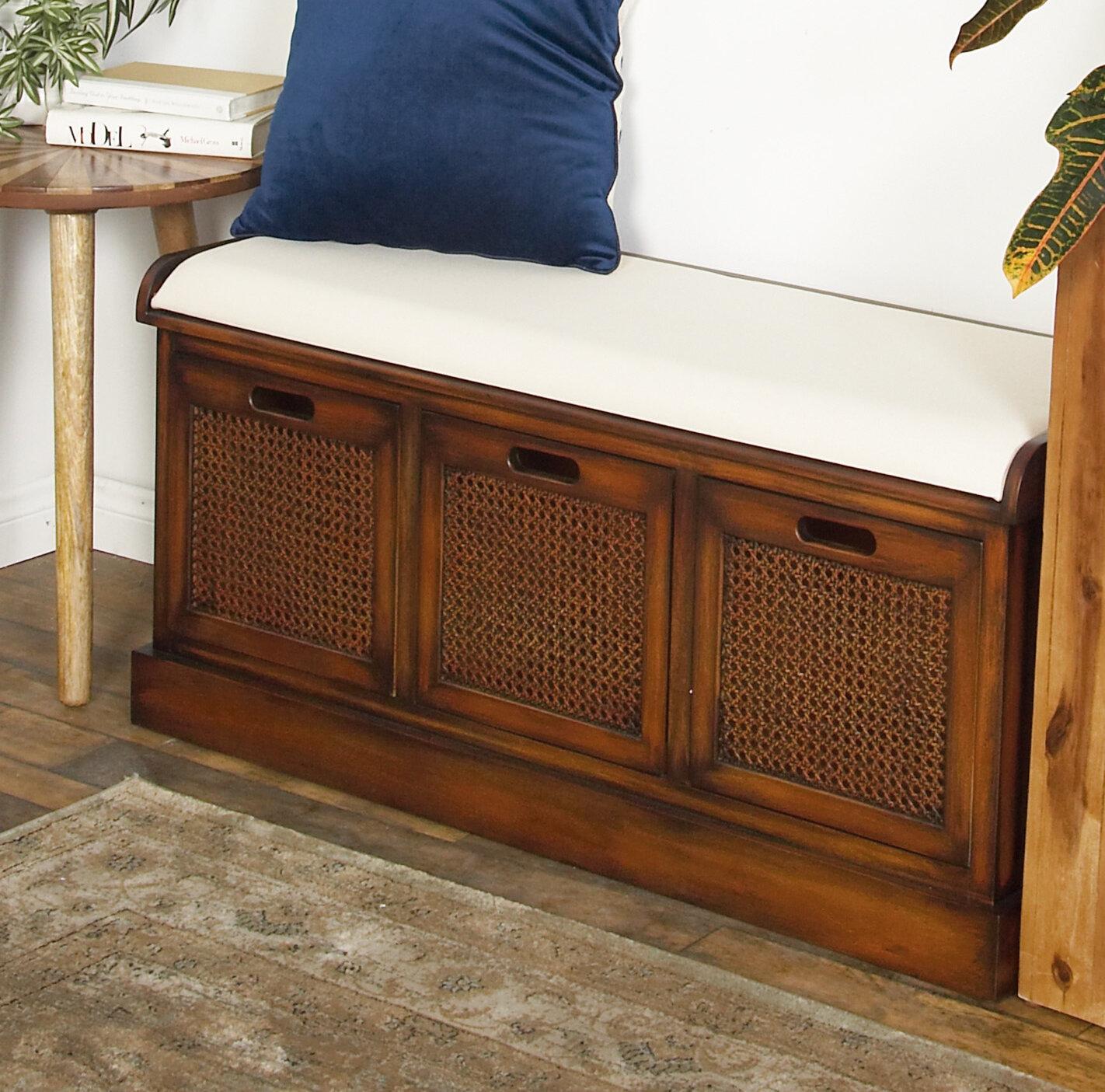 Tremendous Bayou Breeze Harrisburg Rustic 3 Drawer Upholstered Storage Cjindustries Chair Design For Home Cjindustriesco