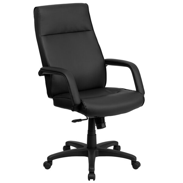 Woollard Leather Executive Chair by Symple Stuff