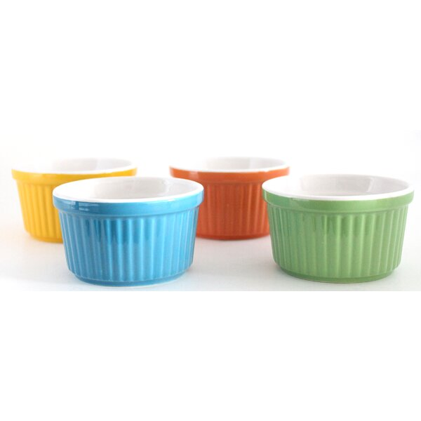 Stoneware Round Creme Brulee Ramekins (Set of 4) by Uno Casa