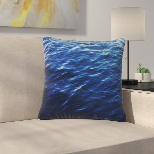 Sea Calm Nature Outdoor Throw Pillow by East Urban Home