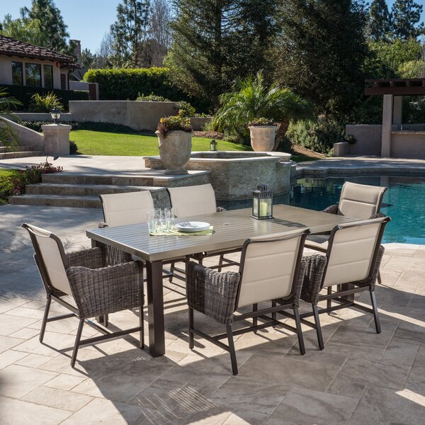 Garibaldi 7 Piece Dining Set by Latitude Run