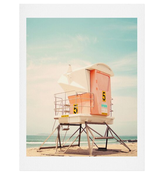 Beach Tower 5 Photographic Print by East Urban Home