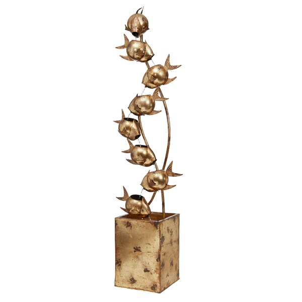 Metal Flurry of Fish Tower Fountain by Wildon Home ®