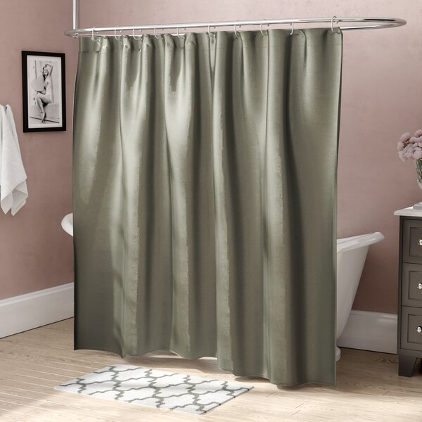Highgate Faux Silk Shower Curtain by House of Hamp