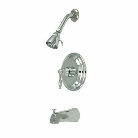 Volume Control Tub and Shower Faucet with Knight Lever Handles by Elements of Design Elements of Design