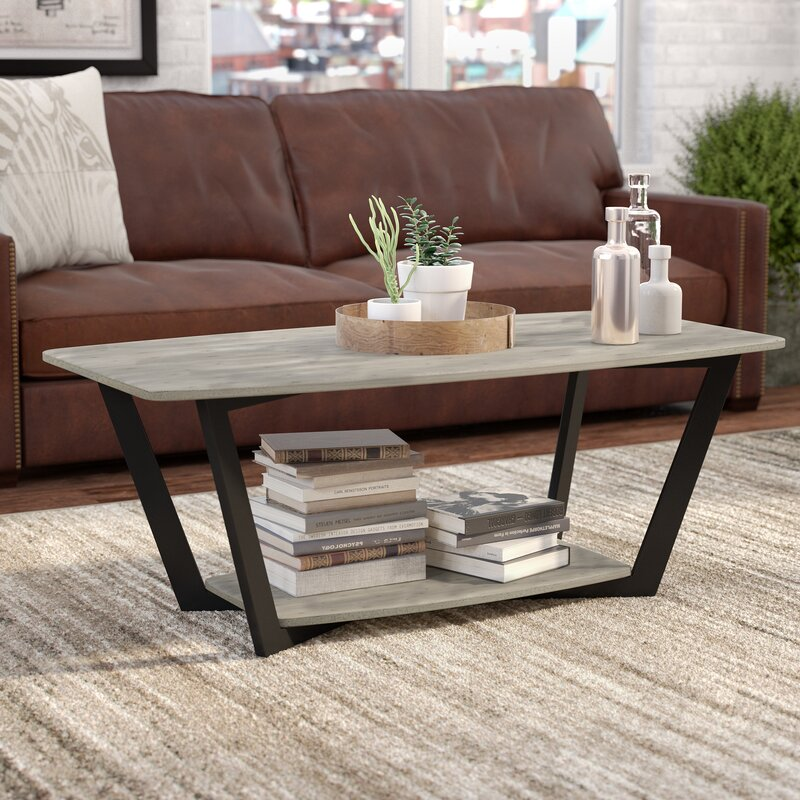 Anissa Coffee Table With Magazine Rack & Reviews