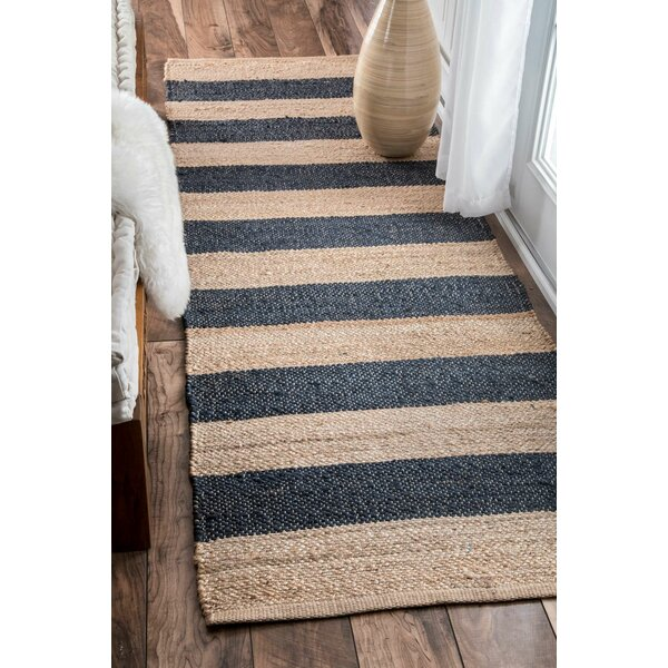 Vienna Denim/Beige Area Rug by Breakwater Bay