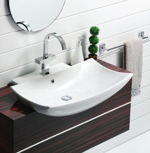 Bella B Ceramic 29 Wall Mount Bathroom Sink with Overflow by CeraStyle by Nameeks