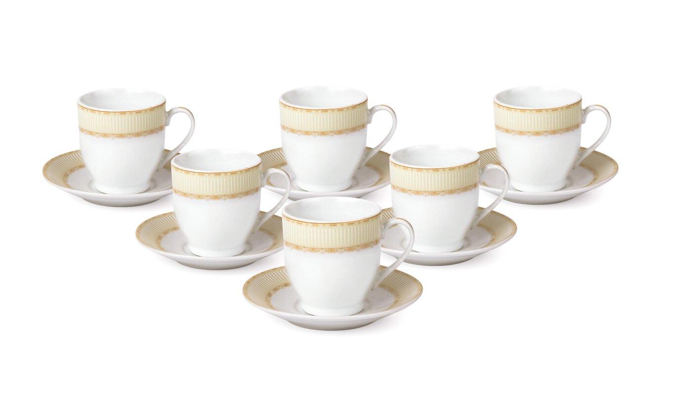 Espresso Cup and Saucer Set (Set of 6)  sc 1 st  Wayfair & Cappuccino \u0026 Espresso Cups You\u0027ll Love | Wayfair