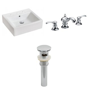 Best Price Ceramic Rectangular Vessel Bathroom Sink with Faucet and Overflow ByRoyal Purple Bath Kitchen