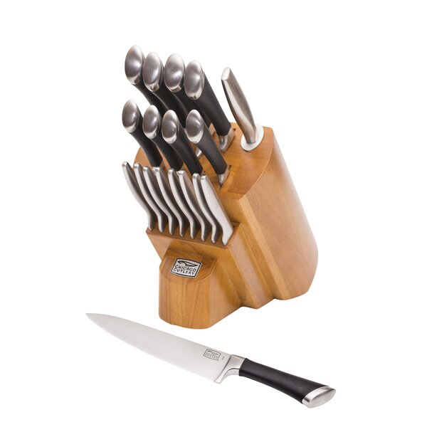 Fusion 18 Piece Knife Block Set by Chicago Cutlery