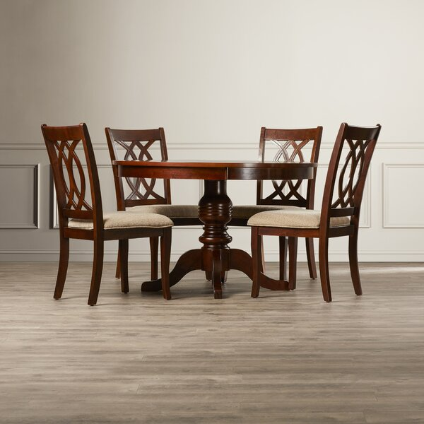 Freeport 5 Piece Solid Wood Dining Set by Astoria Grand