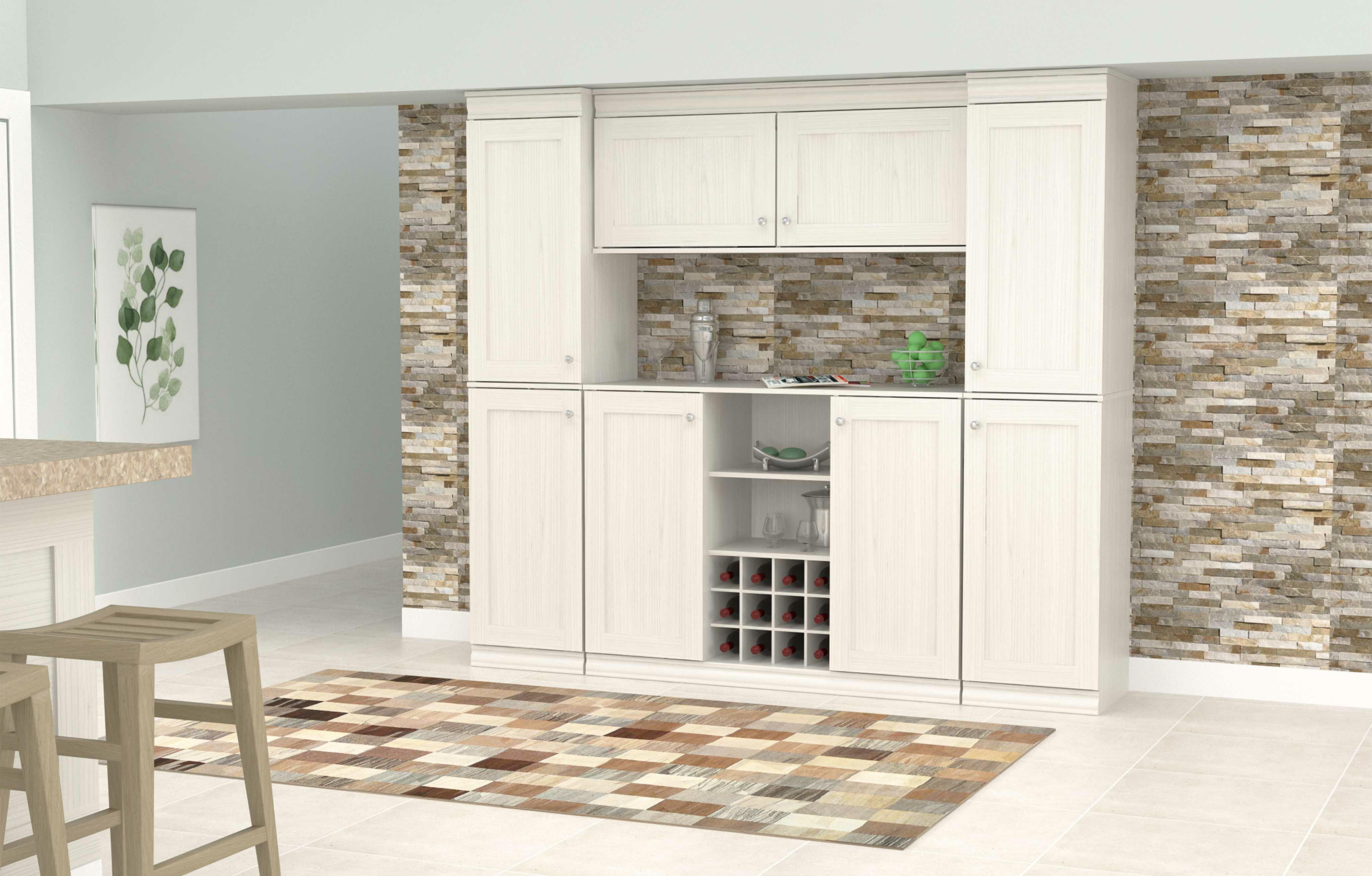 Hythe 4 Piece Buffet Kitchen Pantry