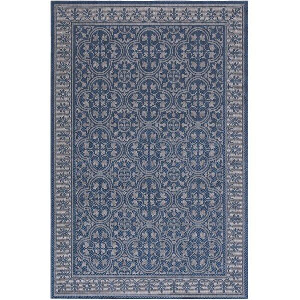 Buchman Floral Blue Indoor/Outdoor Area Rug