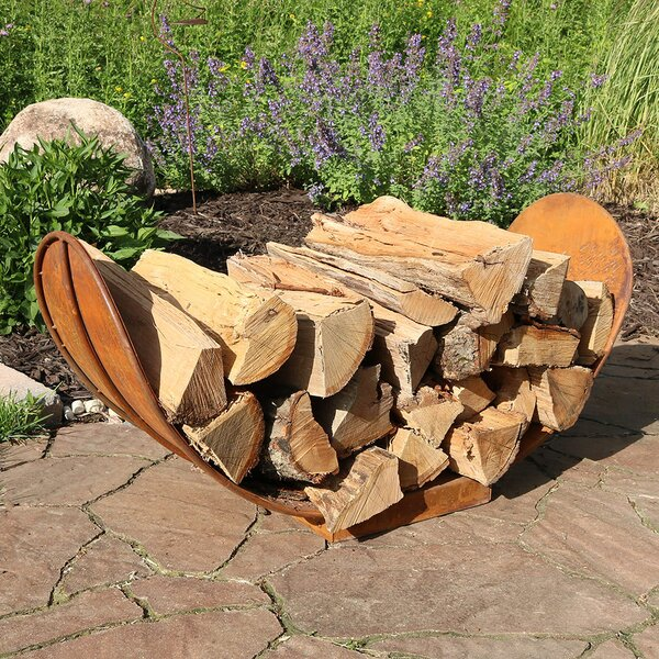Rustic Firewood Log Rack by Wildon Home ®