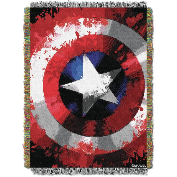 Marvel Comics - Star Shield Tapestry Throw by Northwest Co.
