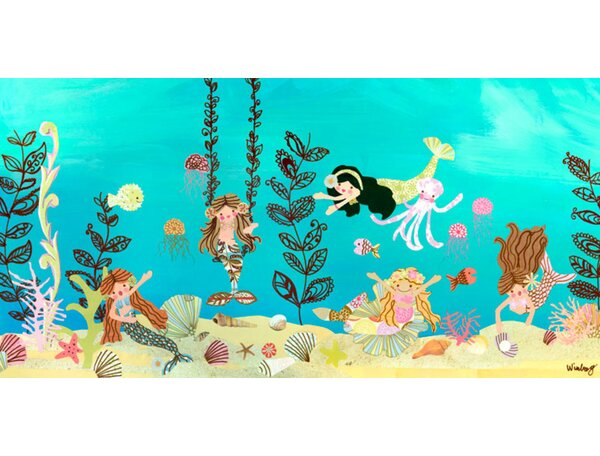 Mermaid Play Day Canvas Art by Oopsy Daisy