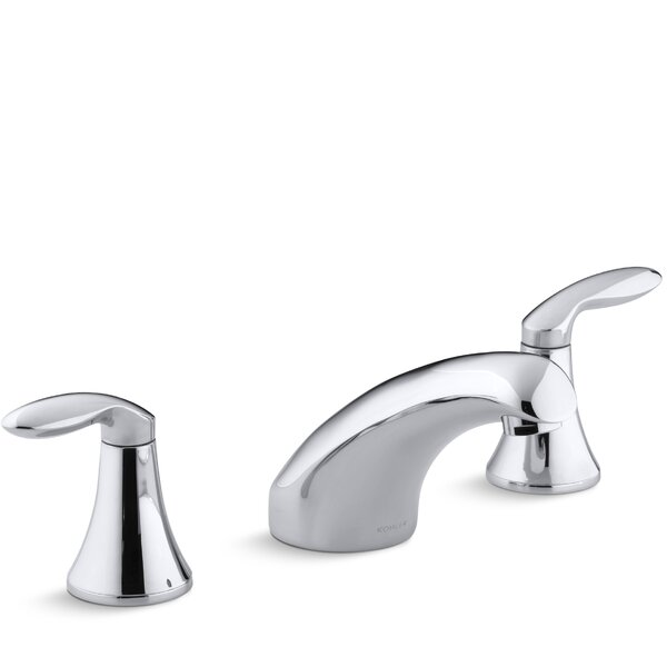 Coralais Rim-Mount Bath Faucet Trim with 5-1/2 Spout and Lever Handles, Valve Not Included by Kohler