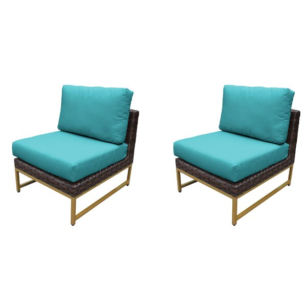 Sumpter Patio Chair with Cushions (Set of 2) by Wrought Studio Wrought Studio