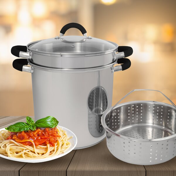 Stainless Stock Pot with Lid by Cook Pro