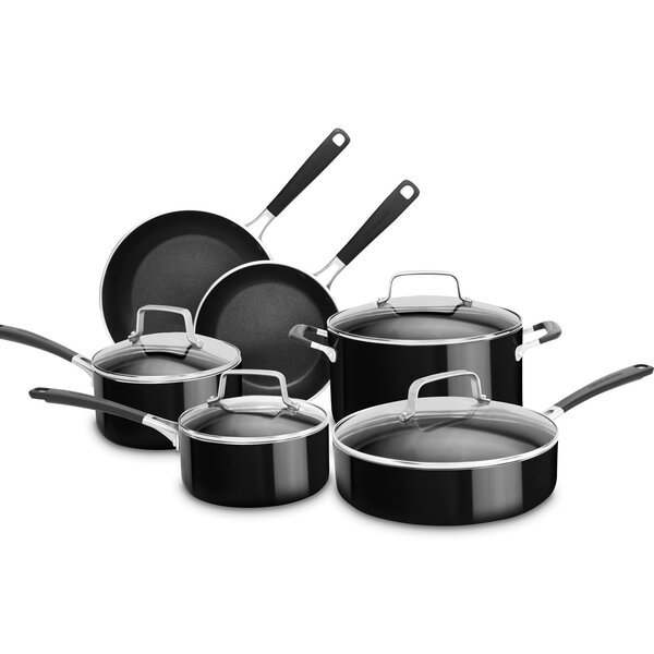 10 Piece Non-Stick Cookware Set by KitchenAid
