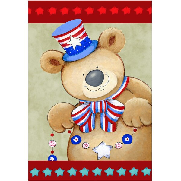 Patriotic Bear Garden Flag by The Cranford Group