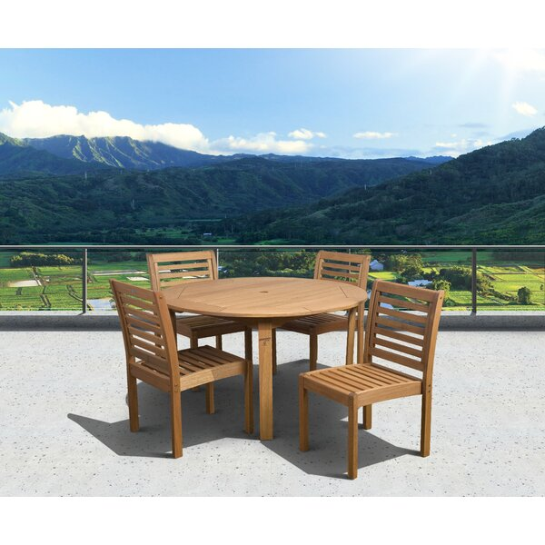 Tryon Outdoor 5 Piece Dining Set by Highland Dunes