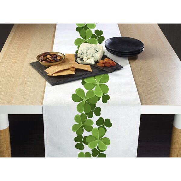 Enoch Clover Garland Border Table Runner by The Holiday Aisle