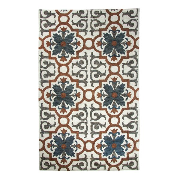 Casual Rust/Blue Hand Woven Area Rug by Dynamic Rugs