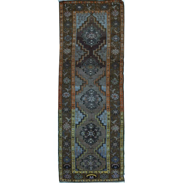 Hand Knotted Wool Blue Rug
