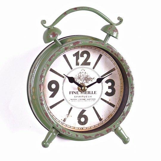 Metal Alarm Tabletop Clock by August Grove