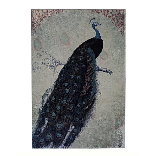Wooden Peacock Painting Print by Cheungs