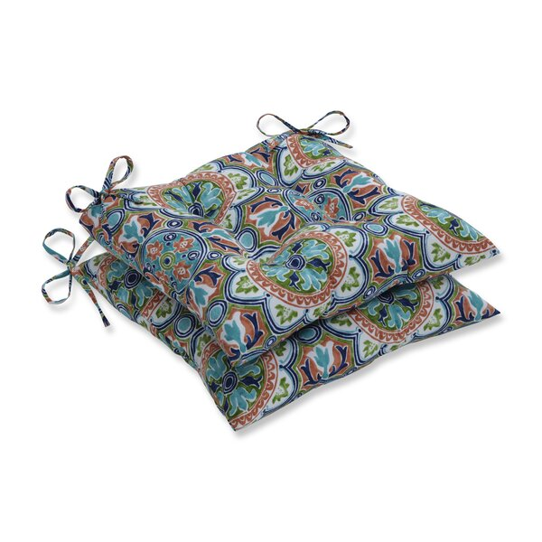 Tile Flamingo Indoor/Outdoor Dining Chair Cushion (Set of 2) by Charlton Home