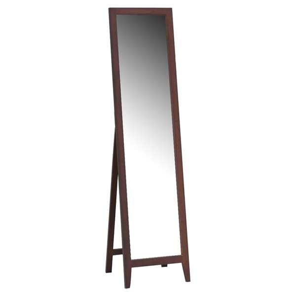 Cloninger Wood Standing Mirror by Mercury Row
