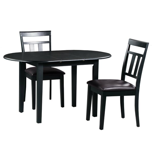Best  Forsyth 3 Piece Extendable Solid Wood Dining Set By Alcott Hill Cheap