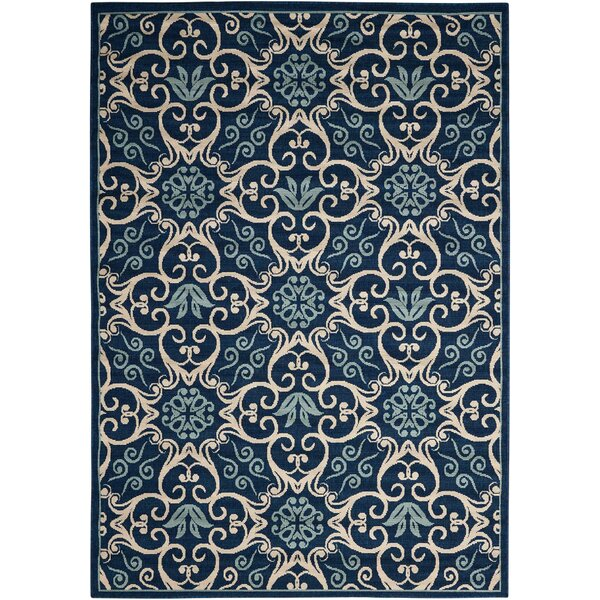 Groveland Navy Indoor/Outdoor Area Rug by Alcott Hill