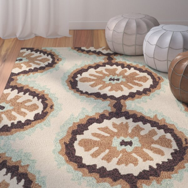 Puri Beige/Green Outdoor Area Rug by Bungalow Rose