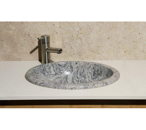Meridian Stone Oval Drop-In Bathroom Sink by Allstone Group